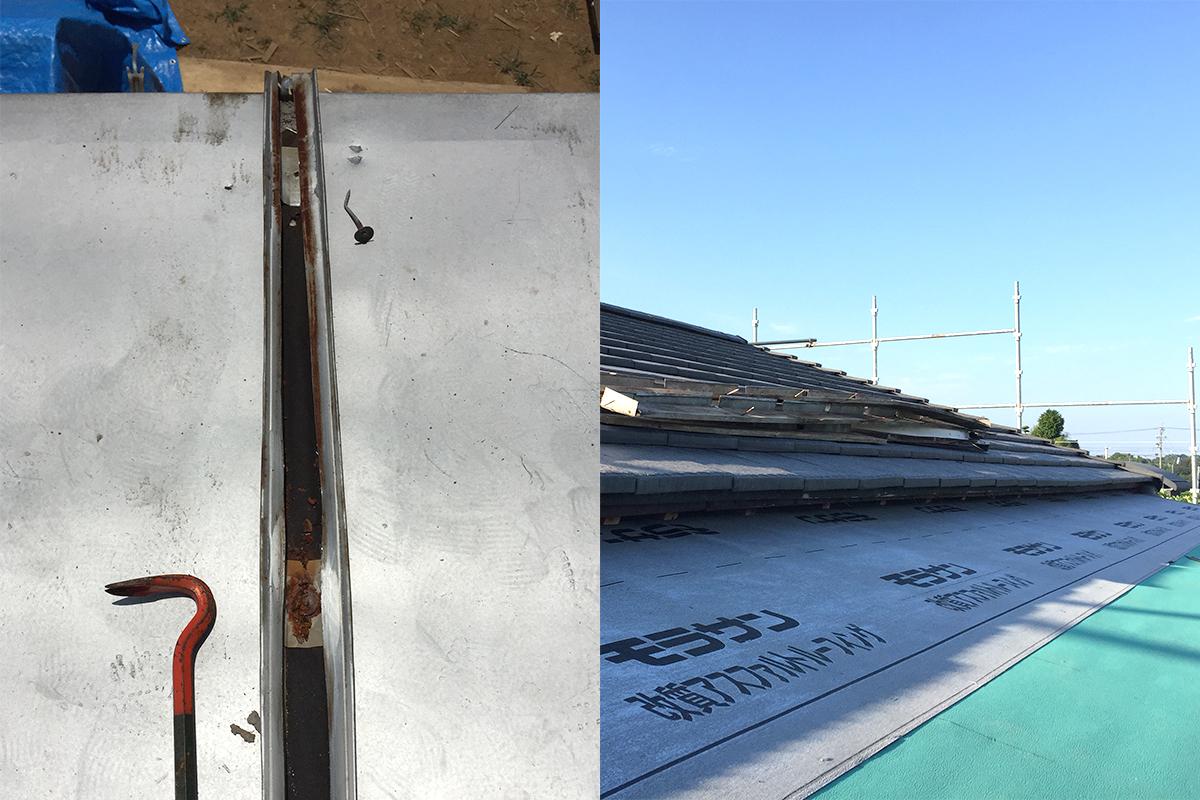 瓦棒の修理